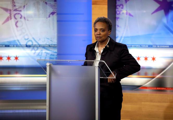 La candidate démocrate Lori Lightfoot à Chicago (Illinois), le 26 mars.