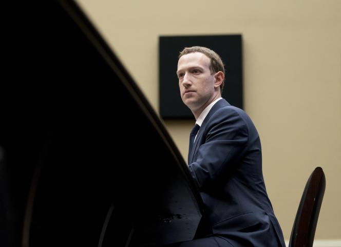 Mark Zuckerberg entendu à Capitol Hill (Washington), le 11 avril 2018.