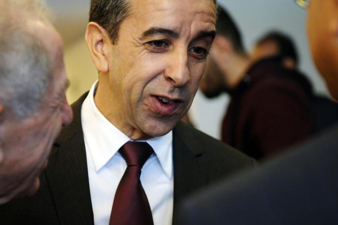 L'ancienpatron des patrons algériens, Ali Haddad, a été arrêté dans la nuit du samedi 30 mars à un poste-frontière avec la Tunisie. Ici, en octobre 2015.