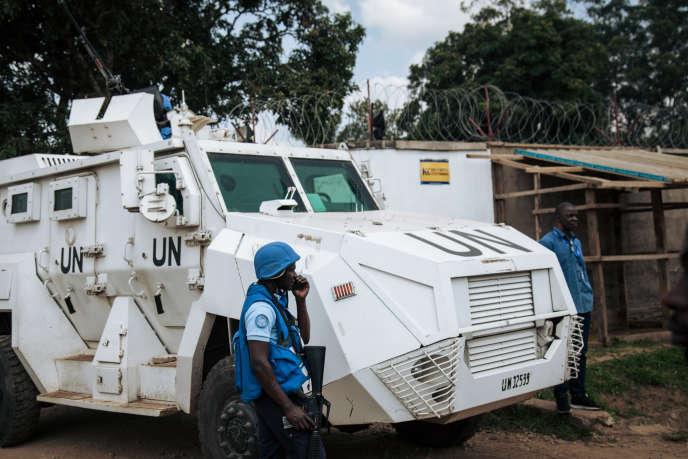 Un véhicule de la Monusco à Beni, dans l'est de la RDC, le 27 décembre 2018.