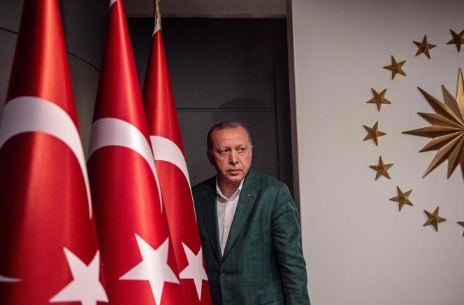 Le président turcRecep Tayyip Erdogan après l'annonce des résultats des élections municipales, ici à Istanbul, le 31 mars.