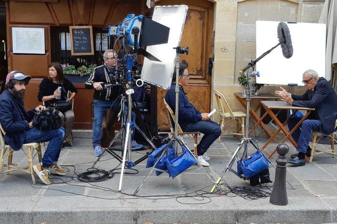 Le cinéaste André Téchiné lors d'une interview.