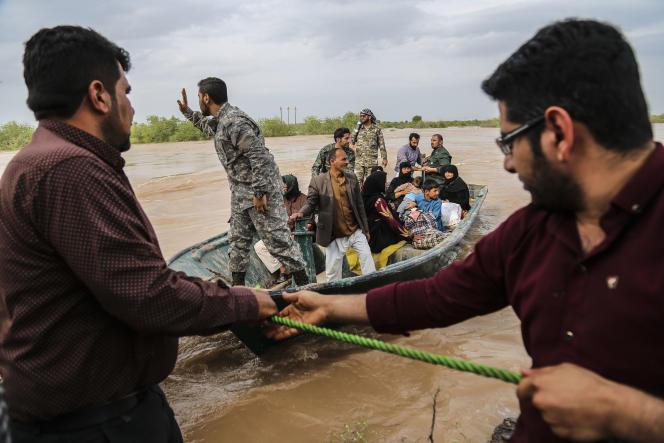 Près d'Ahvaz, dans la province de Khouzistan, le 31 mars.
