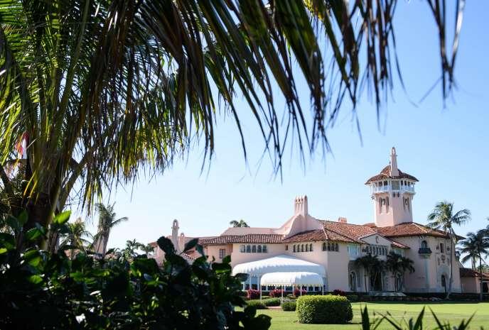 Le complexe de Mar-a-Lago, possédé par le président américain Donald Trump à Palm Beach, en Floride.