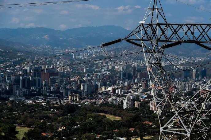 A Caracas, le 10 mars. Les Vénézuéliens doivent faire face à de nombreuses coupures d'électricité.