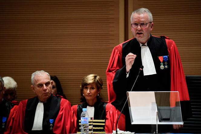 Rémy Heitz, lors de son discours d'installation, au tribunal de Paris, le 4 décembre 2018.