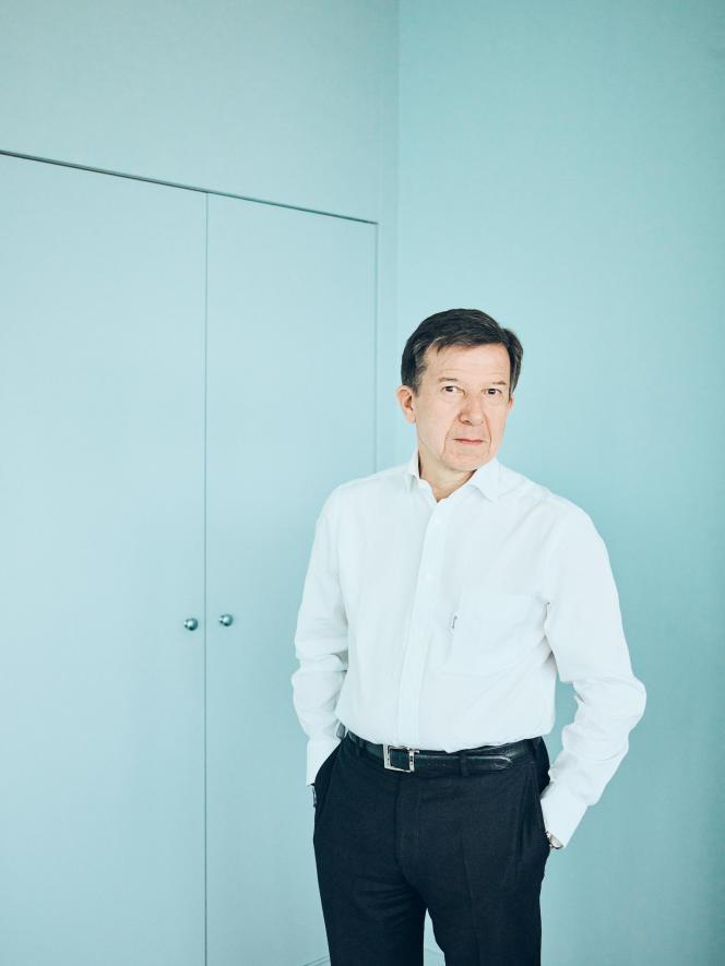 Gilles Pélisson, PDG de TF1, à Boulogne-Billancourt(Hauts-de-Seine), mardi 2 avril.