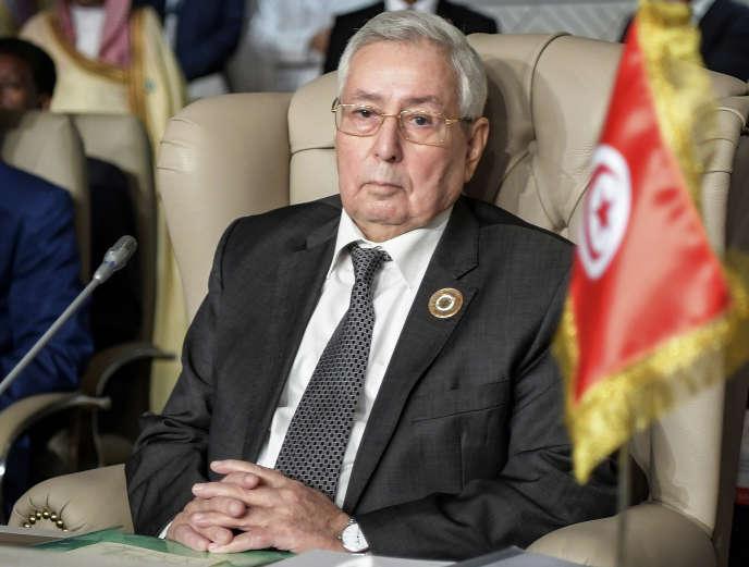 Abdelkader Bensalah, le 31 mars 2019.
