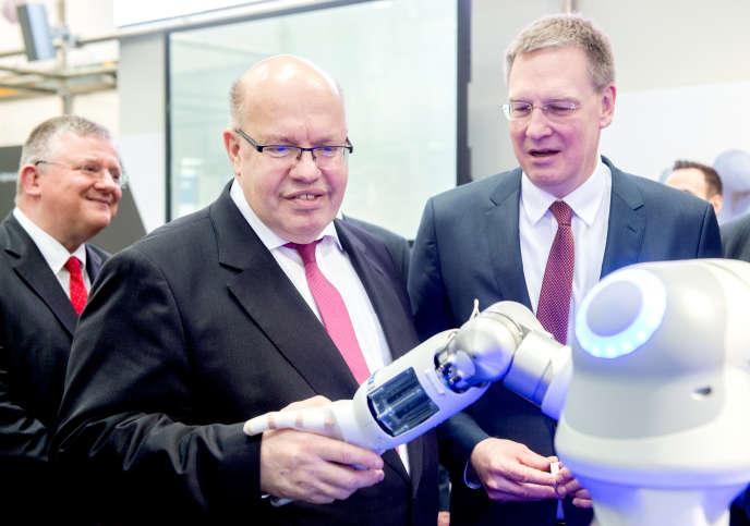 Le ministre allemand de l'économie, Peter Altmaier, mardi 2 avril, à la Foire d'Hanovre.