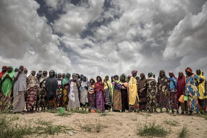 Un groupe de femmes dans un champ de sorgho ans la région de Maradi, au Niger, en août 2018.