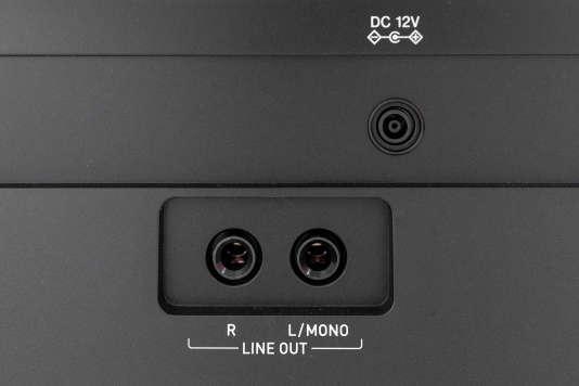 Les sorties stéréo permettent de connecter le PX-160 à un ampli, un système de sonorisation ou une table de mixage.
