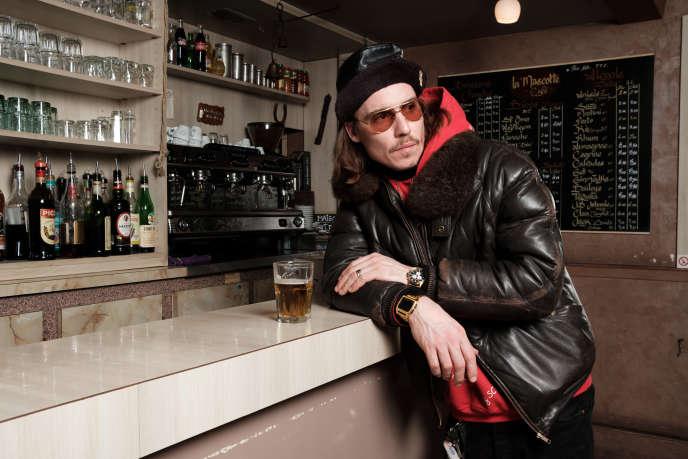 Le cuisinier Franck Morello, alias Scotchman, au bar Mascotte, dans le 18e arrondissement de Paris, le 12 février.