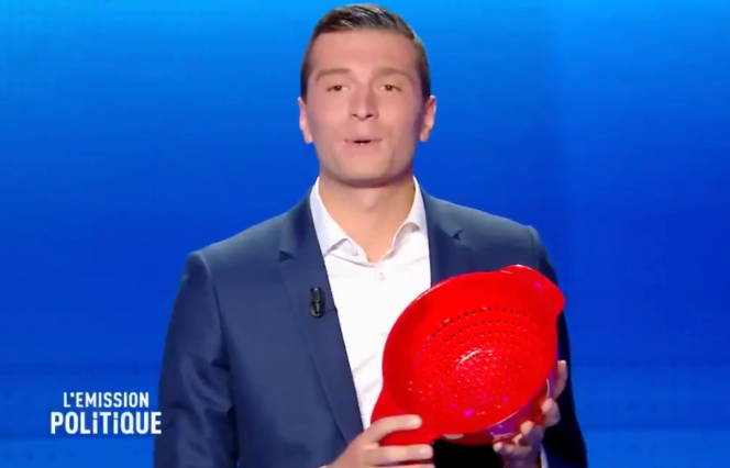 Jordan Bardella lors du débat sur France 2 jeudi 4 avril.
