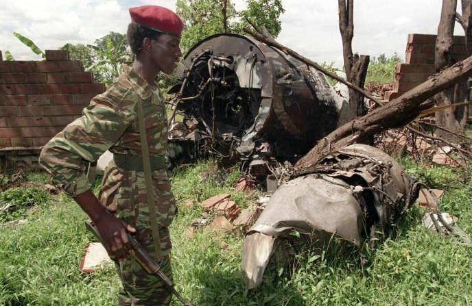 L'avion abattu du président Habyarimana, en 1994 à Kigali.