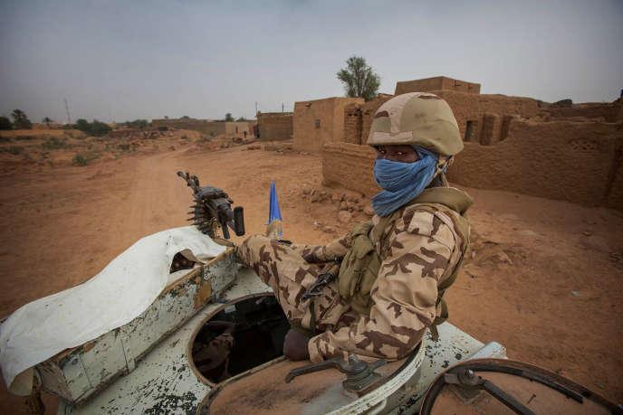 Une patrouille de la Minusma dans les rues de Kidal, dans le nord-est du Mali, en décembre 2016.