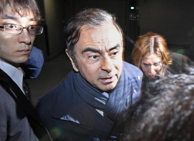 L'ancien dirigeant de l'AllianceRenault-Nissan-Mitsubishi, Carlos Ghosn, à Tokyo, le 3avril.