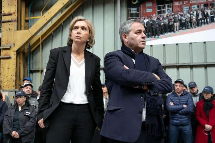 La présidente de la région Ile-de-France, Valérie Pécresse, et Xavier Bertrand, président de la région Hauts-de-France, en janvier.