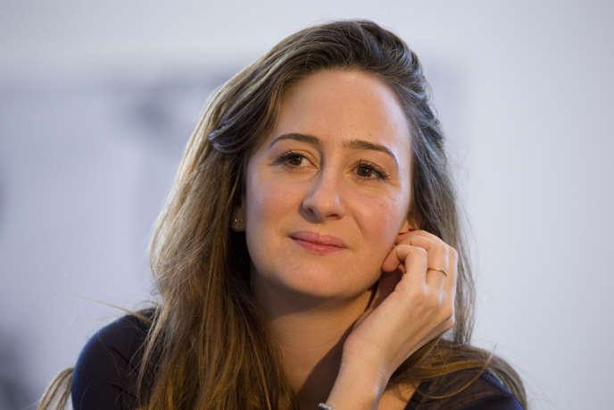 Céline Lazorthes, fondatrice du site de cagnotte en ligne Leetchi, est la figure de proue de la fintech française, ici en février 2016 à Paris.