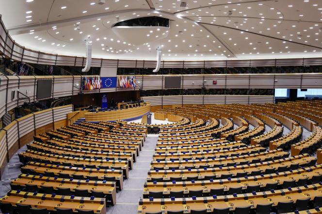 L'hémicycle du Parlement européen à Bruxelles (Belgique), le 2 avril.