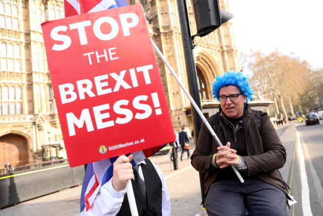 Manifestation anti-Brexit le 3 avril à Londres.