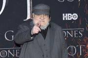 George R. R. Martin à l'avant-première de l'épisode 1 de la huitième saison de «Game of Thrones», le 3 avril, à New York.