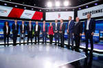 The European election leading candidates from France's major political parties pose before a debate organised by French public national television broadcaster France Televisions in Paris, France, April 4, 2019. REUTERS/Christian Hartmann