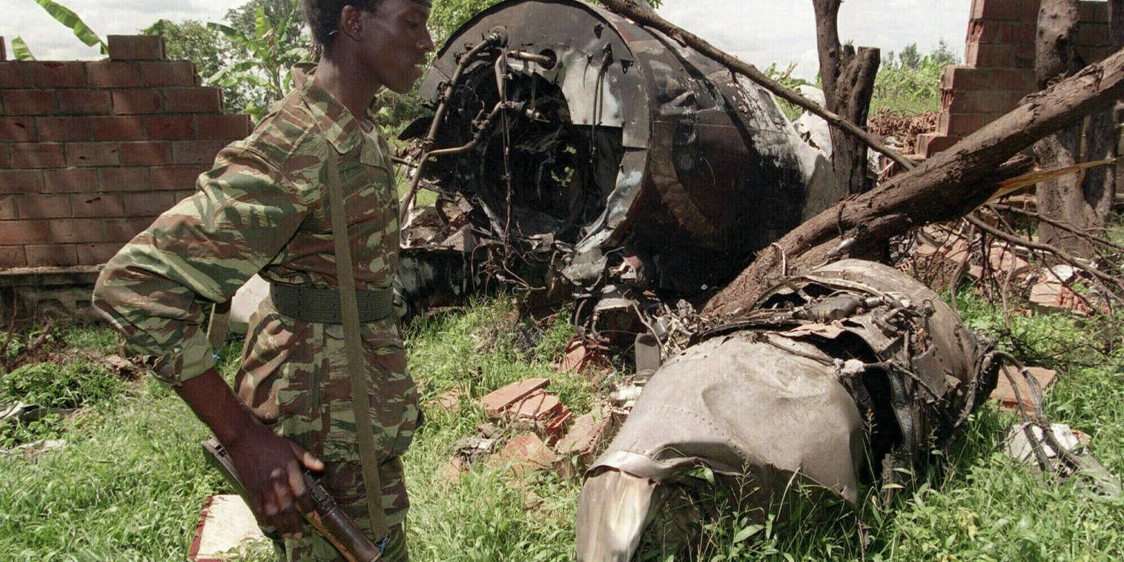 L'appareil abattu du président Habyarimana, sur une photo du 23 mai 1994.
