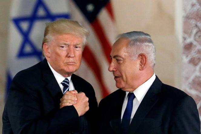 Donald Trump et Benyamin Nétanyahou, à Jérusalem, le 23 mai 2017.