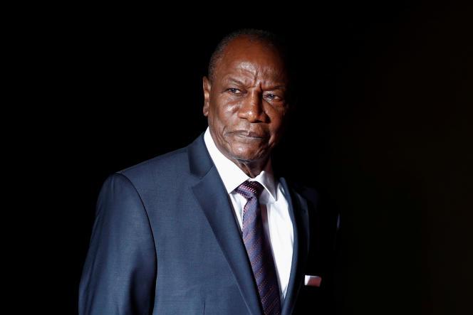 Le président guinéen Alpha Condé, à Paris, le 10 novembre 2018.