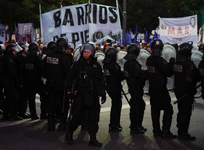 Lors d'une manifestation contre la politique économique de Mauricio Macri, le 4 avril àBuenos Aires.
