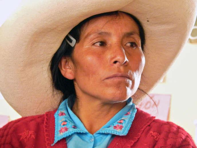 Maxima Acuña de Chaupe, en 2014 àCajamarca, au Pérou.