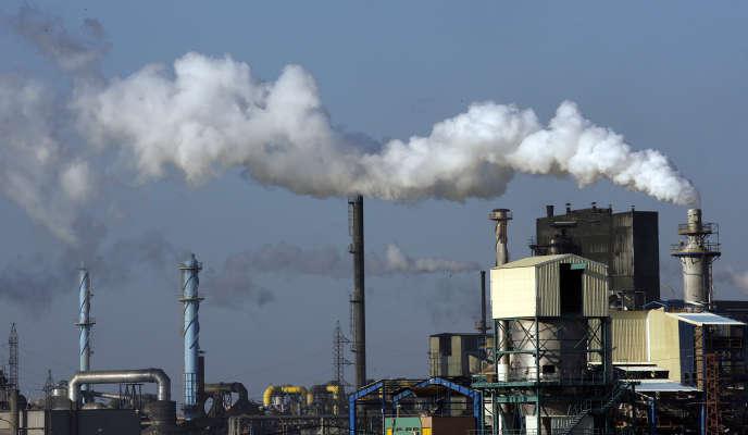L'usine du champion de l'engrais espagnolFertiberi, près d'Huelva, dans le sud de l'Espagne, en 2008.