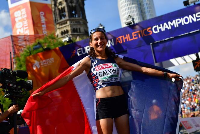 Clémence Calvin avait remporté la médaille d'argent aux championnats d'Europe 2018, à l'occasion de son premier marathon.