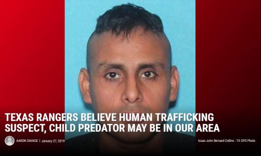 «Ce prédateur d'enfants suspecté de trafic d'êtres humains est peut-être près de chez vous.»