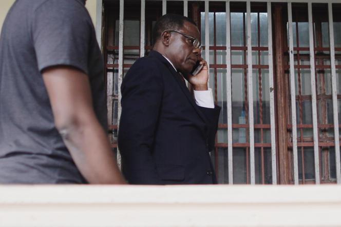 Maurice Kamto, leprésident du Mouvement pour la renaissance du Cameroun, à Yaoundé, le 8octobre 2018.