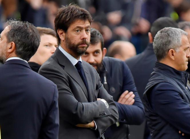 Andrea Agnelli, président de la Juventus de Turin, le 6 avril.