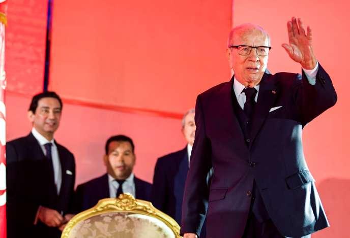 Le président tunisien Beji Caid Essebsi le 6 avril à Monastir.