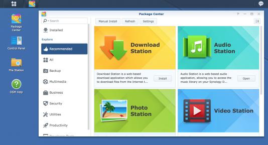 Vous pouvez rapidement trouver et installer de nouvelles applications dans le Centre de packages.