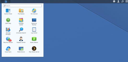 Un accès rapide à chaque logiciel installé est intégré au menu déroulant de DSM.