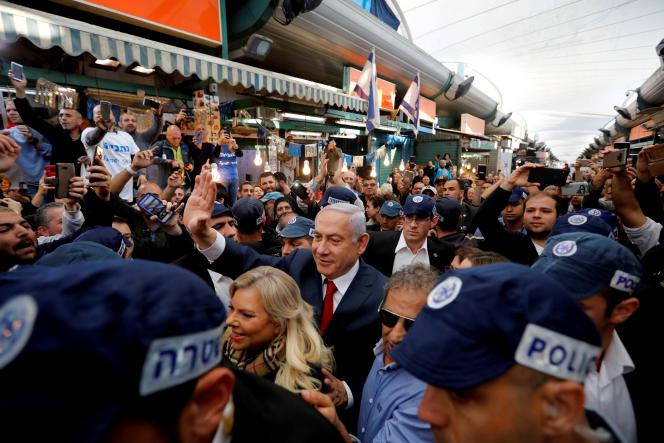Benyamin Nétanyahou,à Tel Aviv (Israël), le 2 avril.