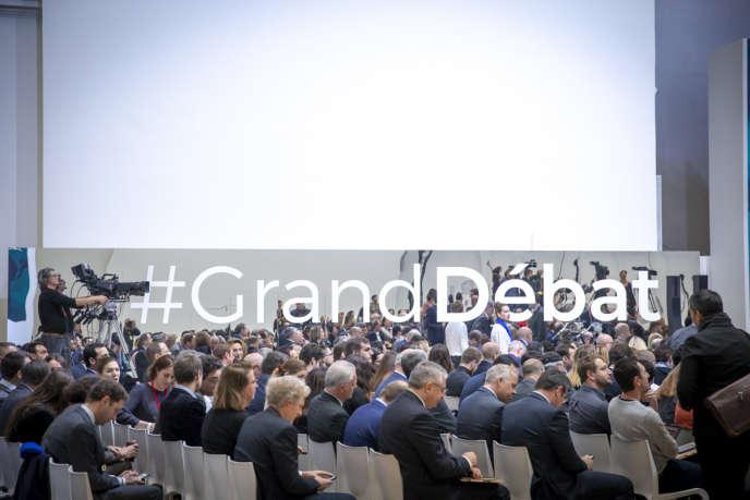 La Restitution du grand débat national au Grand Palais à Paris.
