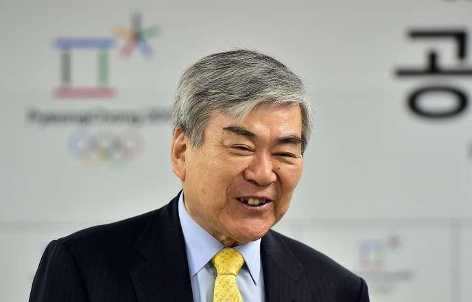 Cho Yang-ho, le 6 avril 2015,lors d'un événement à Séoul pour les JO.
