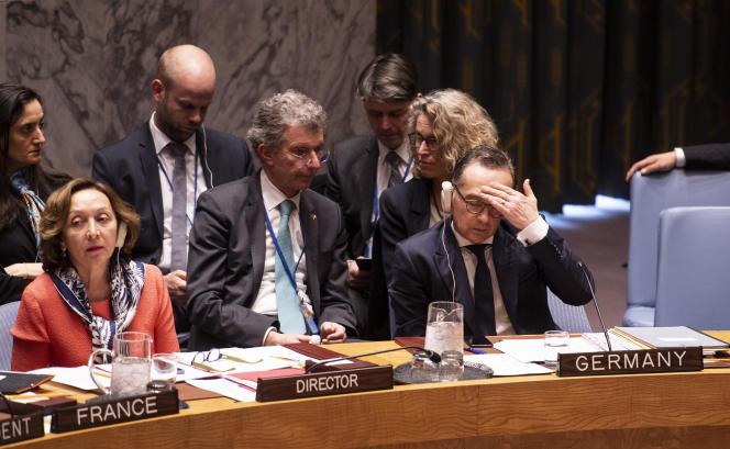 Réunion du Conseil de sécurité au siège des Nations unies à New York, le 29 mars.
