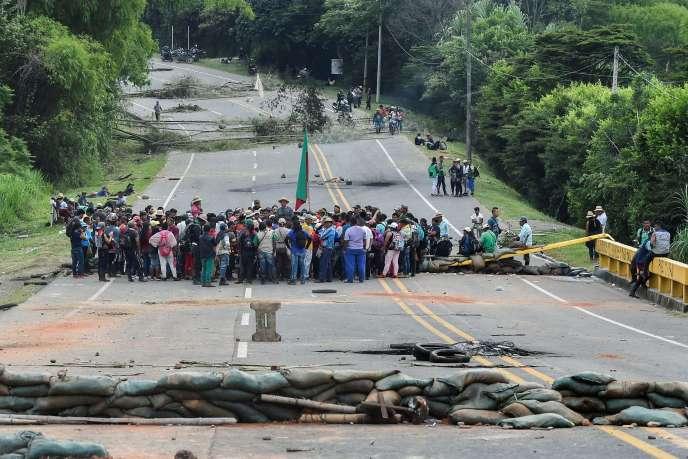 Entre les villes de Cali et de Popayan, en Colombie, le 24 mars.