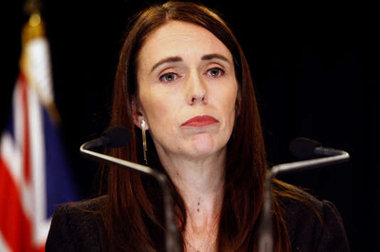 Jacinda Ardern, première ministre néo-zélandaise, le 25 mars.
