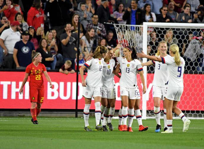 Les footballeuses de la sélection américaine, plus tout à fait imbattables.