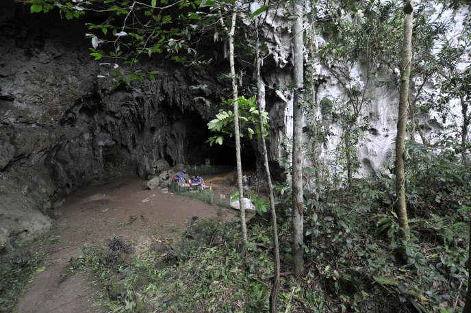 La grotte de Callao (Philippines) où ont été retrouvés les restes fossiles d'«Homo luzonensis».