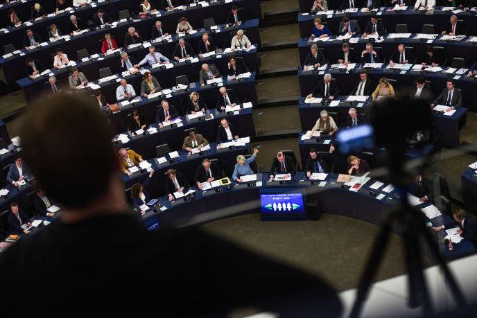 Au Parlement européen, à Strasbourg, le 28 mars 2019.