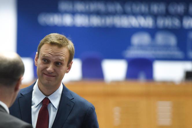 L'opposant russe Alexeï Navalny à la Cour européenne des droits de l'homme, à Strasbourg, le 15 novembre 2018.