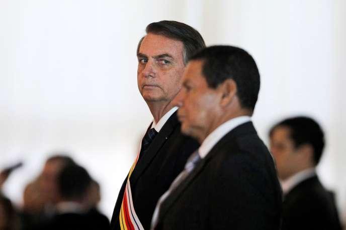 Le président brésilien Jair Bolsonaro le 28 mars à Brasilia.